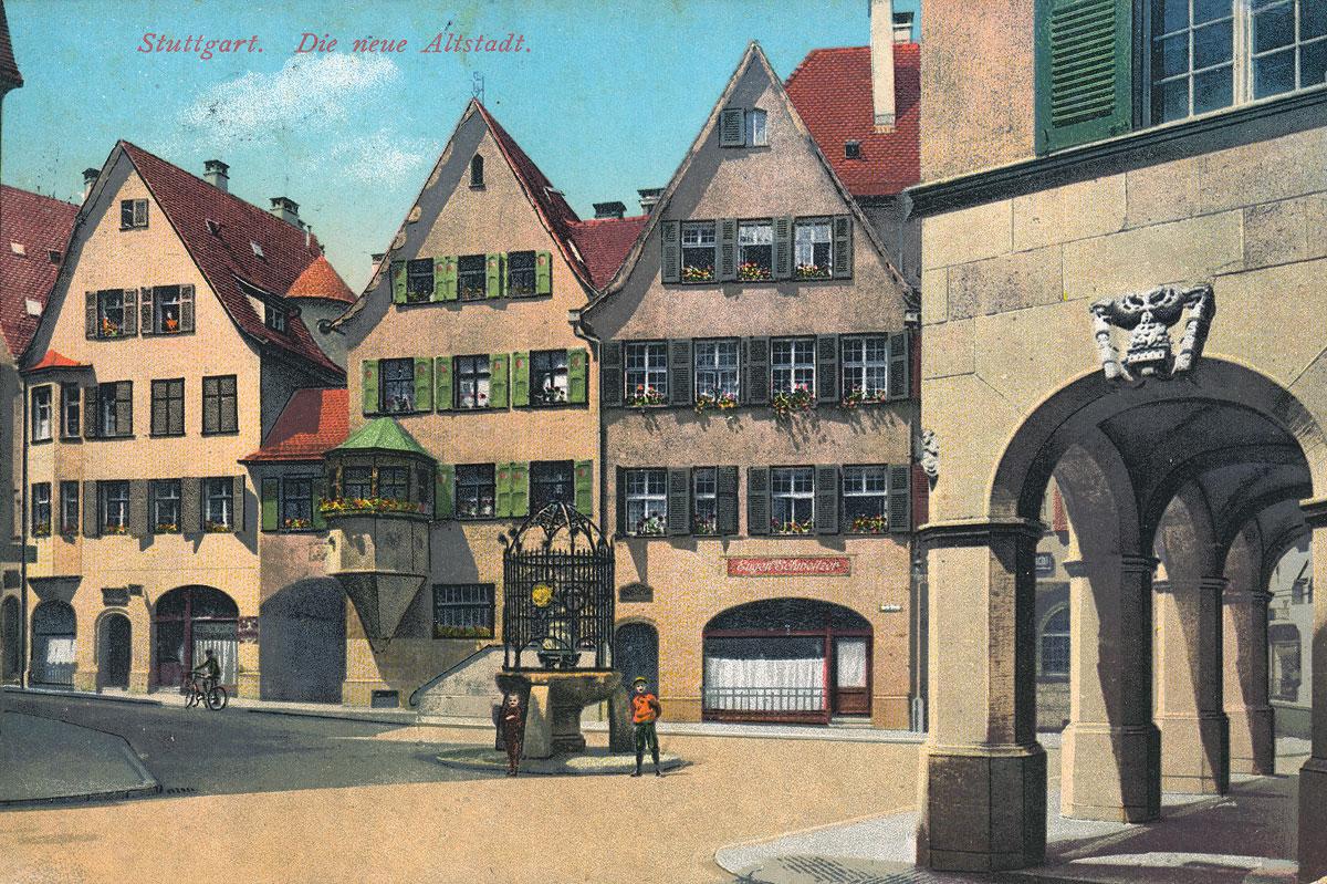 Märchenhaftes Glück: Die Stuttgarter Altstadt-Sanierung 1909