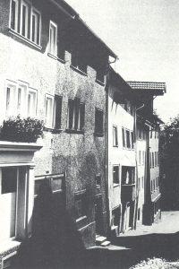 Reihe historischer Stadthäuser