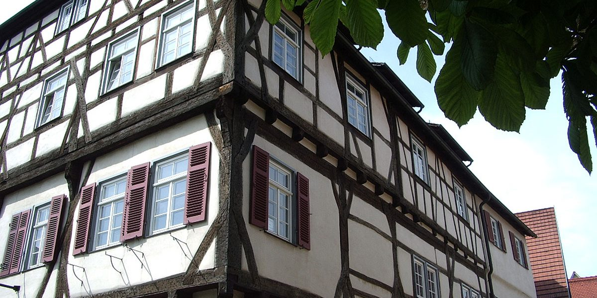 Fachwerkhaus Details der Fassade