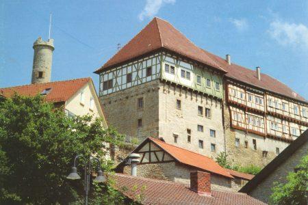 Turmschloss mit Fachwerkaufsatz