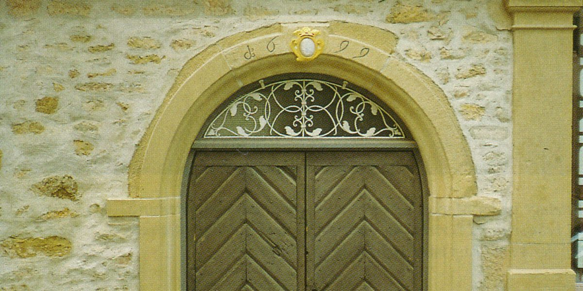 Portal mit Inschrift 1699