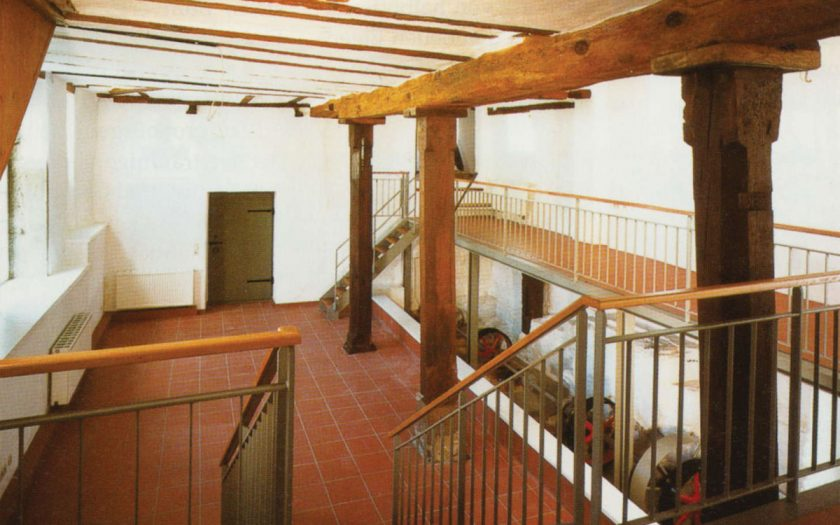 Innenraum eines historischen Gewerbegebäudes