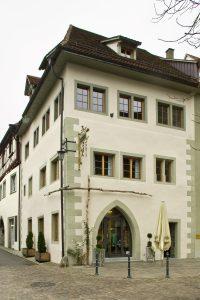 Außenansicht eines historischen Wohngebäudes