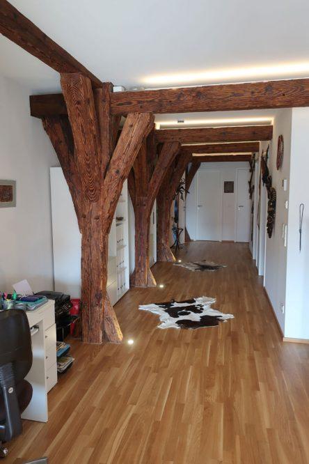 ausgebauter Dachraum mit Fachwerk
