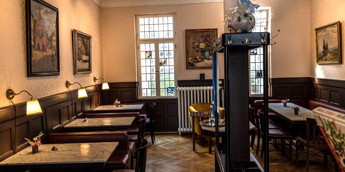 Inneres eines Cafés