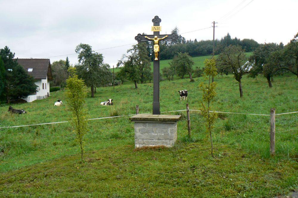 Kruzifix an einer Weide