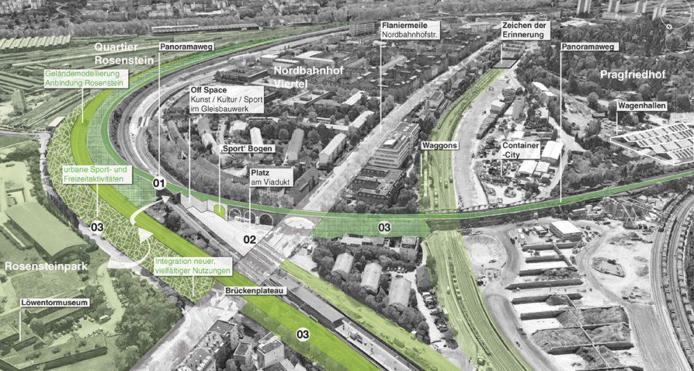 Visualisierung einer städtebaulichen Planung