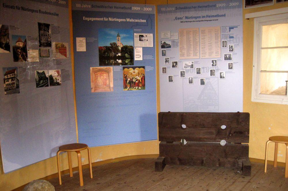 Informationstafeln in einem Raum