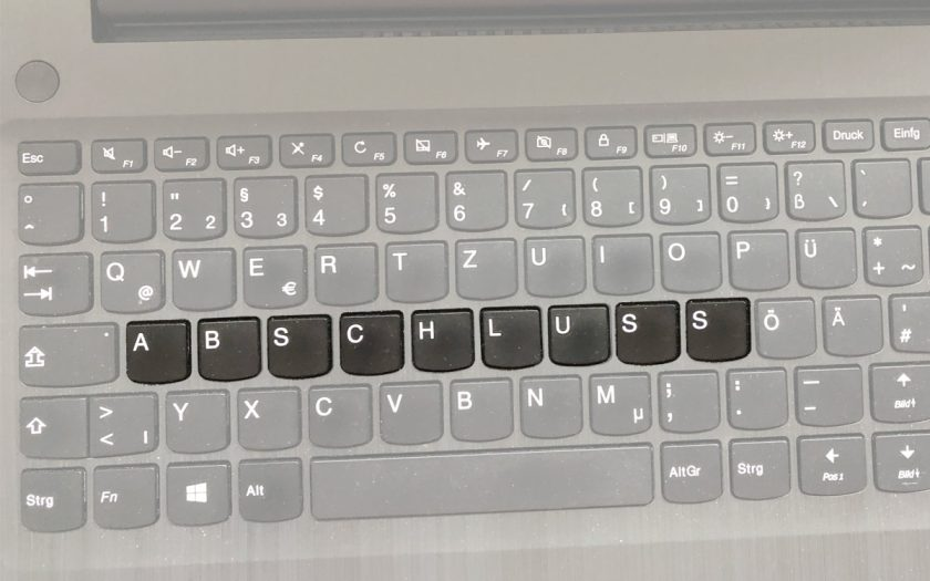 Tastatur eines Computers