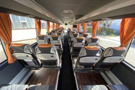 Innenansicht eines Reisebusses